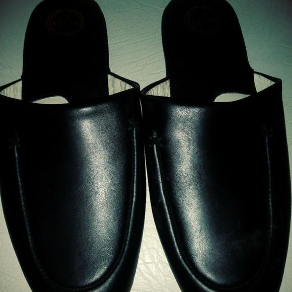 c17ed7d0146 L.B Evans 1804 Mens Duke Leather Slippers. M 5b3e96a74ab63396f4d45b60